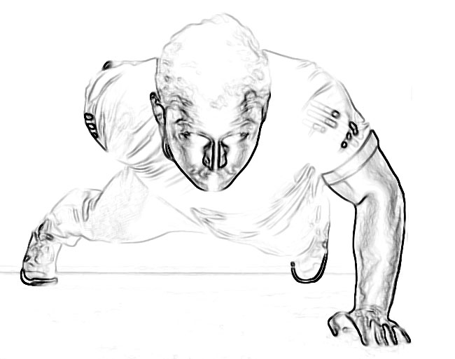 one handed push up